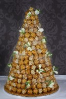 Croquembouche-and-Fresh-Flowers