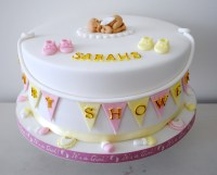 Pink-and-yellow-baby-shower-cake
