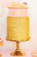 gold-sequined-princess-cake